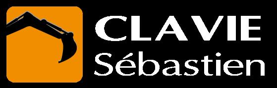 Logo Sébastien Clavie avec Texte Blanc