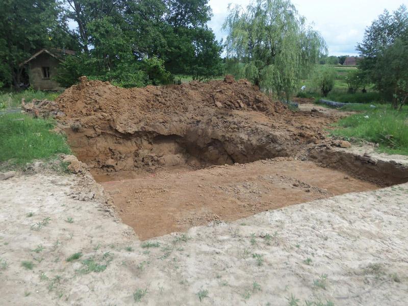 terrassement - creusement de piscine - Sébastien Clavie